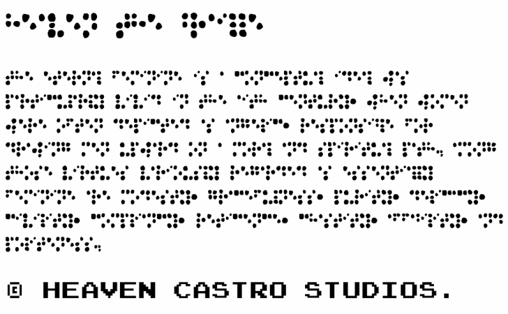 Image for Heaven the Braille font