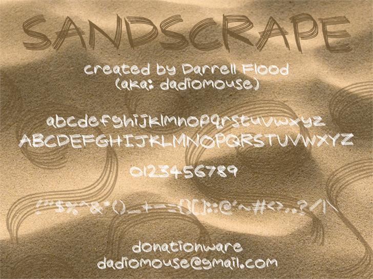 Image for Sandscrape font