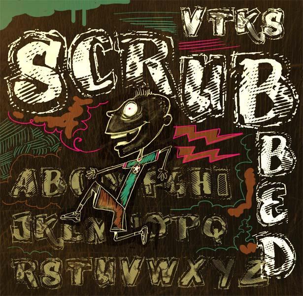 VTKS SCRUBBED font by VTKS DESIGN