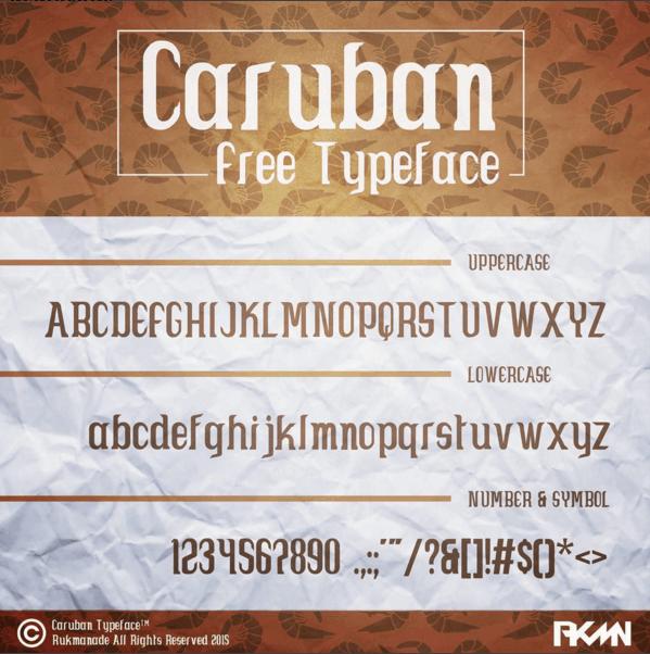 Image for Caruban font