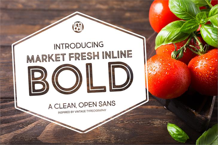 Market Fresh Inline Bold font by Brittney Murphy Design