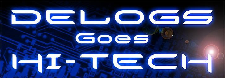 Image for Delogs Goes Hi-Tech font