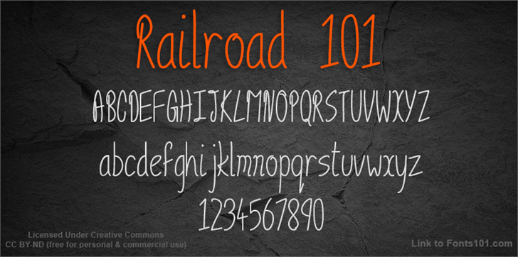 Railroad 101 font by Fonts101