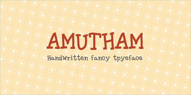 Amutham font by Tharique Azeez