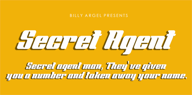 Image for Secret Agent Personal Use font