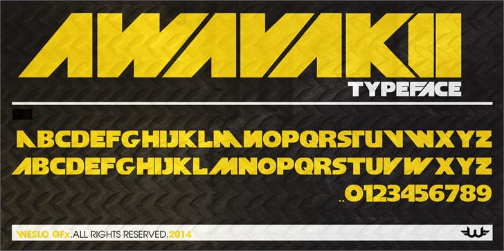 aWavakii font by weslo