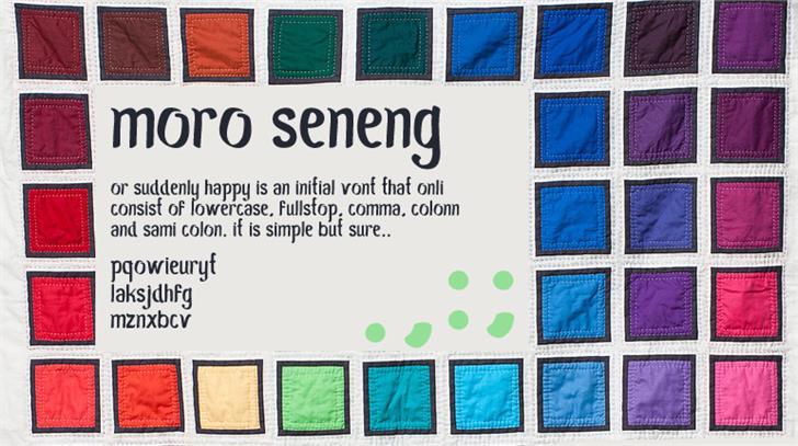 Image for Moro Seneng font