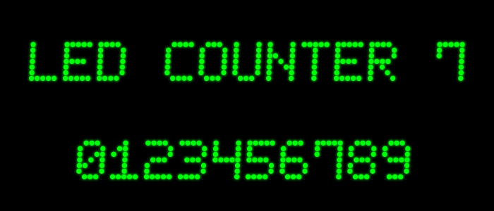 Image for LED Counter 7 font