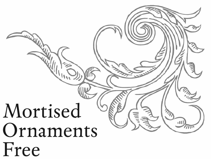 Mortised Ornaments Free font by Intellecta Design