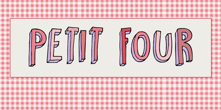 Image for DK Petit Four font