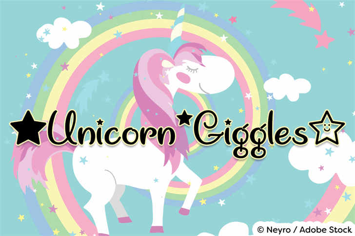 Image for Unicorn Giggles font