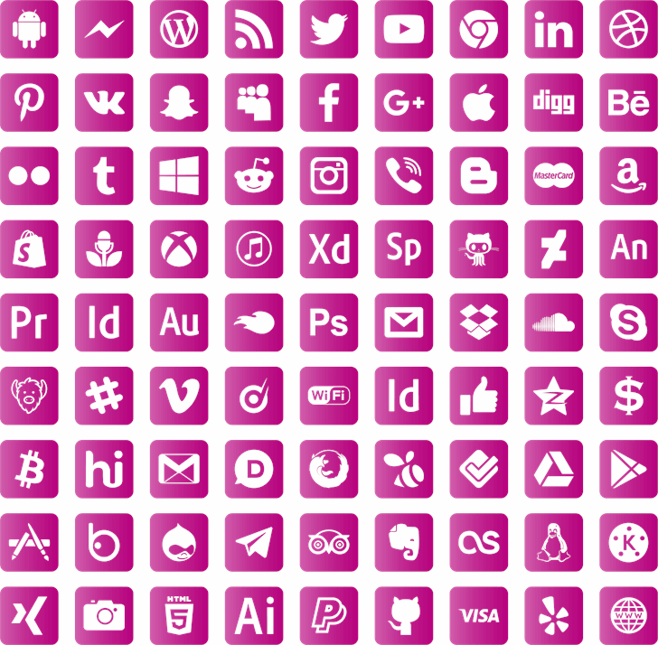 font social media font by elharrak
