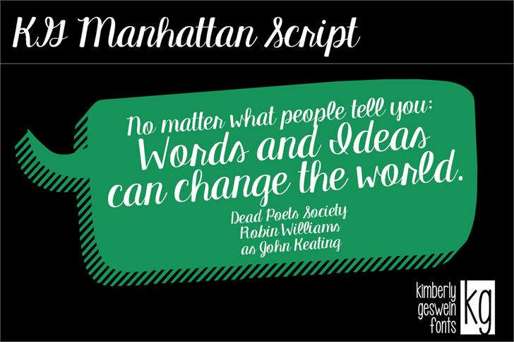 Image for KG Manhattan Script font