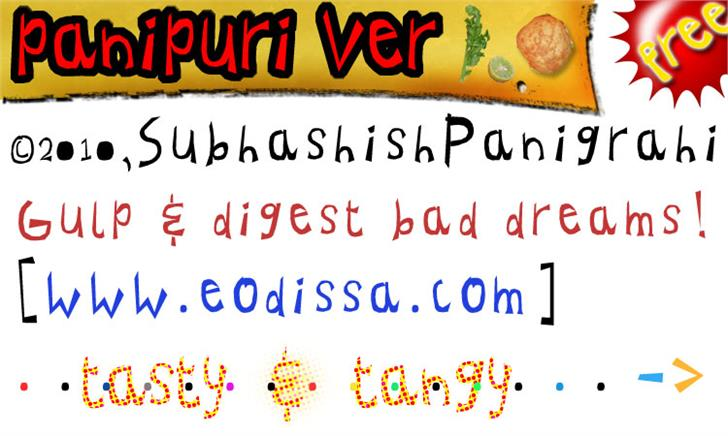 panipuri ver 1.0 font by eodissa