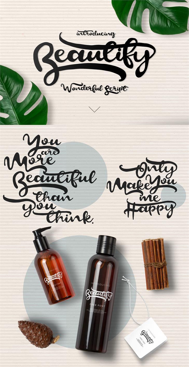 Beautify Script font by Yasireknc
