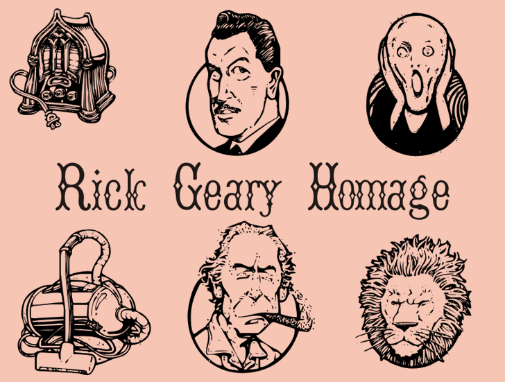 Image for RickGearyHomage font