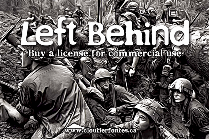 CF Left Behind font by CloutierFontes