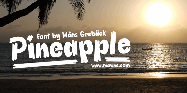 Pineapple Demo font by Måns Grebäck
