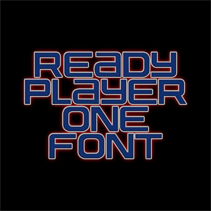 Image for Ready Player One font