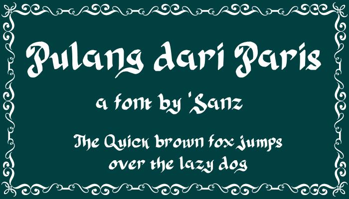 Image for Pulang dari Paris font
