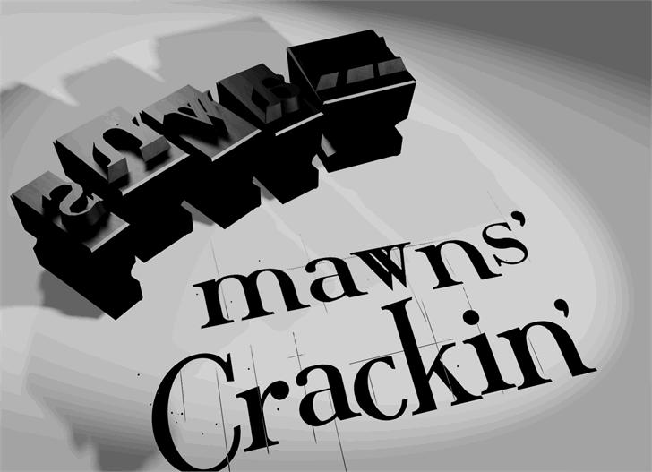 Crackin' font by Måns Grebäck