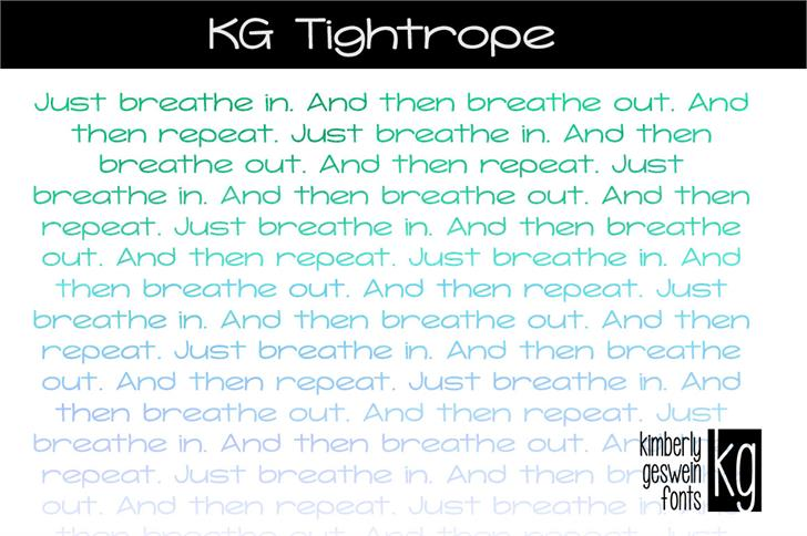 KG Tightrope font by Kimberly Geswein