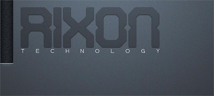 Rixon font by Qbotype Fonts