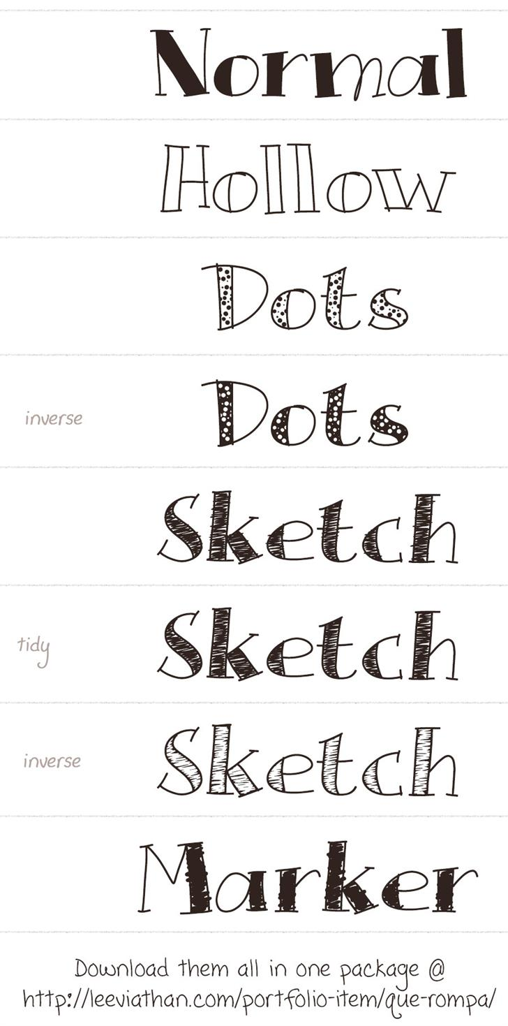 Que Rompa font by Leeviathan