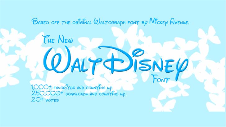 disney font