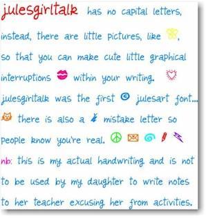 Image for julesgirltalk font