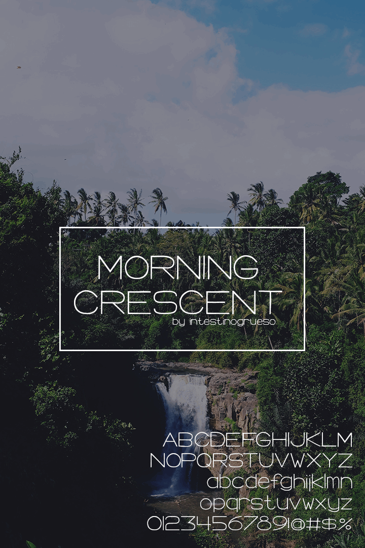 Image for Morning Crescent font