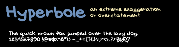 Image for Hyperbole font