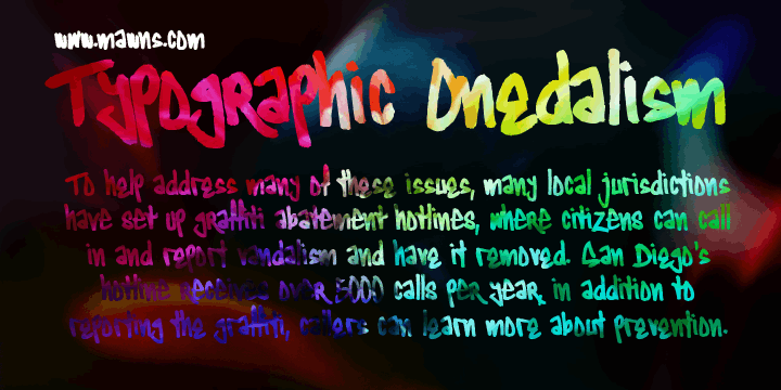 Image for Typographic Onedalism font
