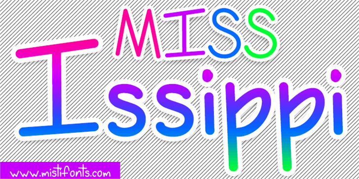 Image for Miss Issippi Demo font
