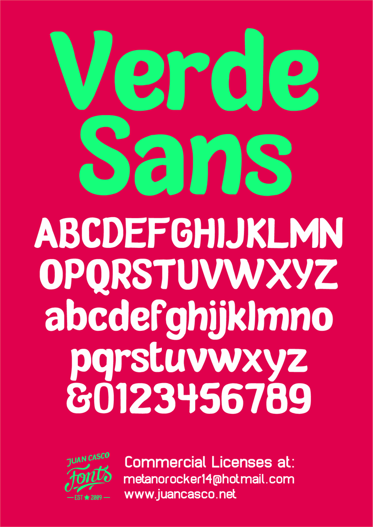 Image for Verde Sans Neue - personal use font