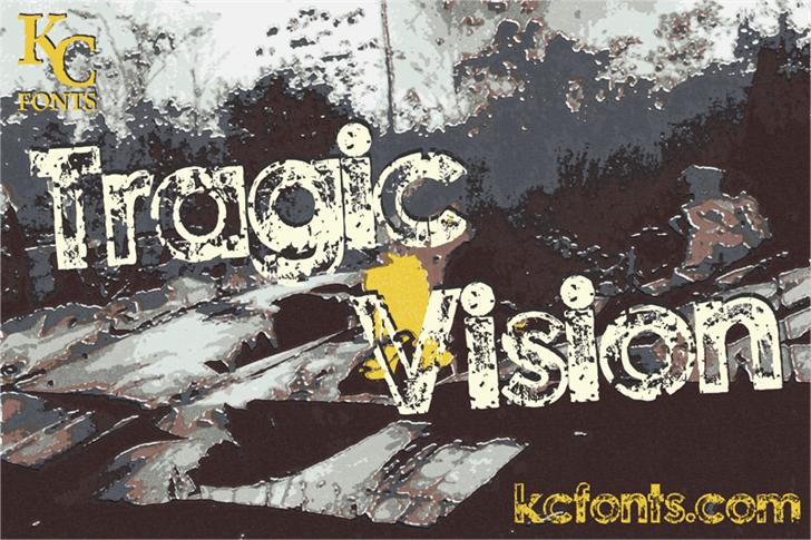 Tragic Vision font by KC Fonts