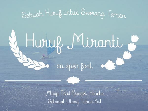 Image for Huruf Miranti font