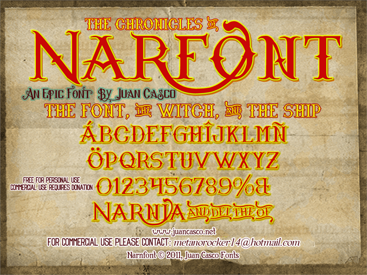 Narnfont by Juan Casco