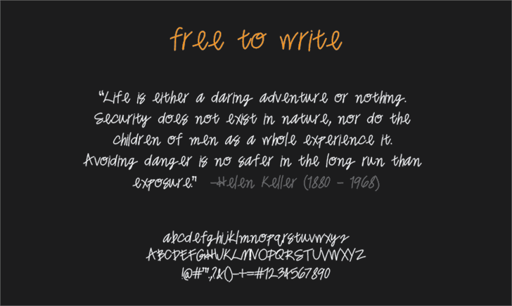 Image for freetowrite font