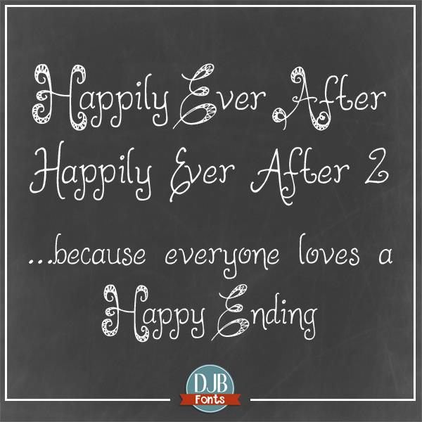 Image for DJB HappilyEverAfter font