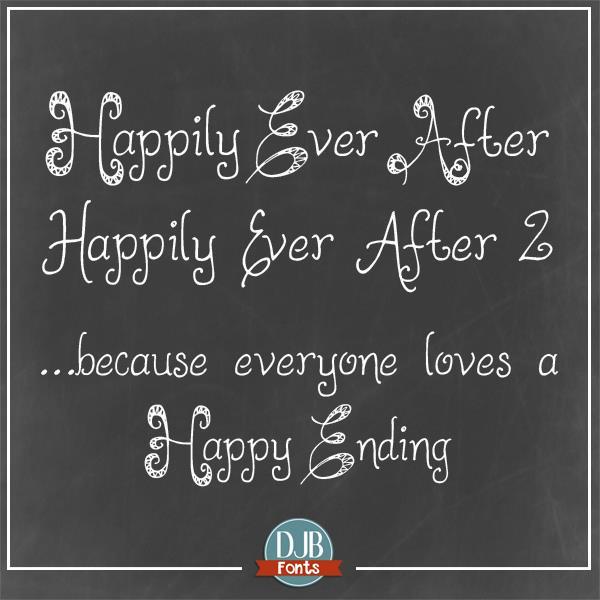 DJB HappilyEverAfter font by Darcy Baldwin Fonts