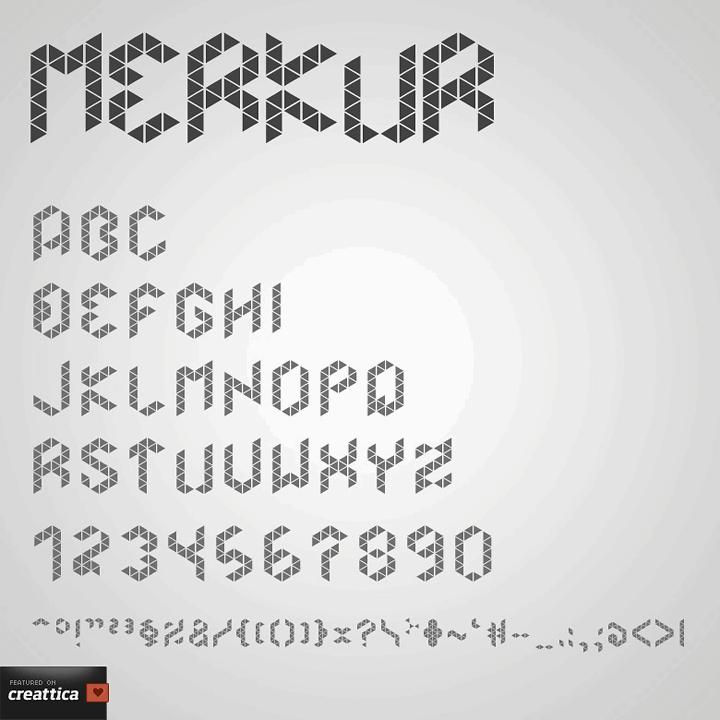 Image for Merkur font