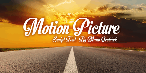 Image for Motion Picture Personal Use  font