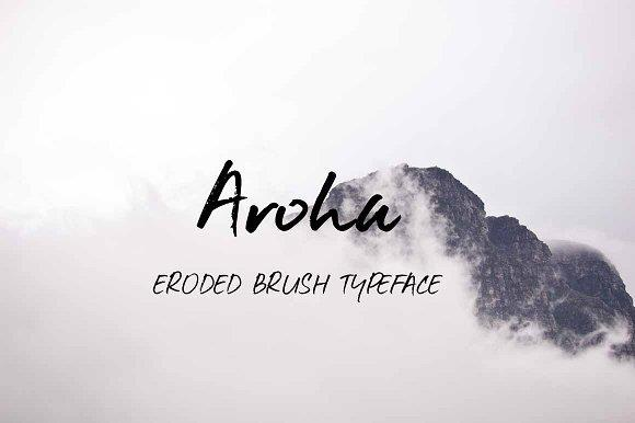 Aroha font by Zansari NZ