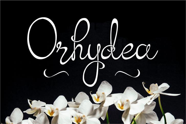 Orhydea font by Eva Barabasne Olasz