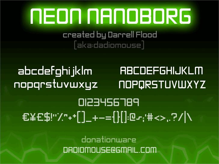 Image for Neon Nanoborg font
