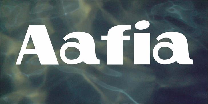 Aafia font by Vladimir Nikolic
