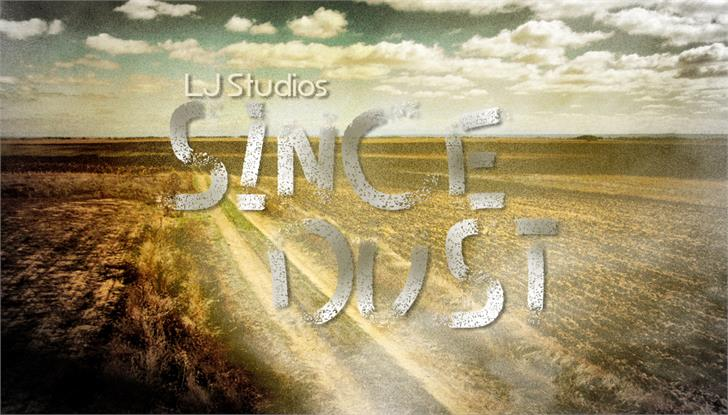 Since dust font by LJ Design Studios