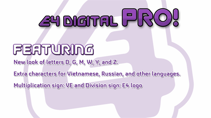 Image for EFour Digital Pro font