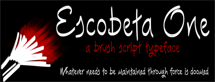 Escobeta One font by deFharo